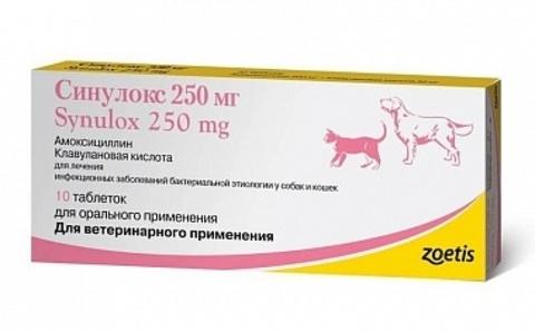 Синулокс 250 мг   10 таб.