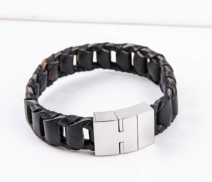 BL780-1 Оригинальный браслет со звеньями из натуральной кожи фото 04