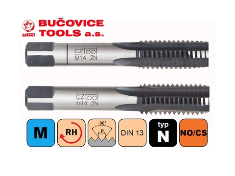 Метчик M12x1,25 (Комплект 2шт) 115CrV3 CSN223010 6h(2N) Bucovice(CzTool) 110122 (ВП)