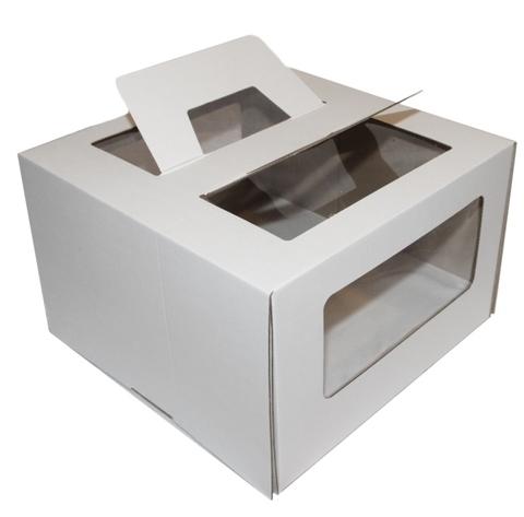 Коробка с ручками и окном 26*26*20см