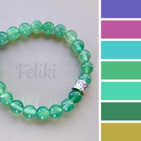 с чем носить браслет из зеленого агата, цветовая шпаргалка