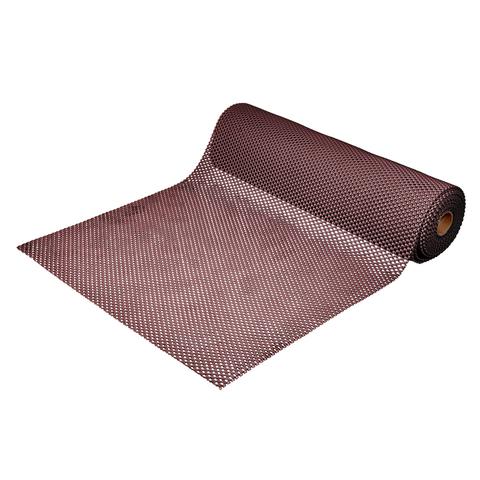 Коврик-дорожка против скольжения Шашки, коричневый, 4,5 мм, 0,9*10 м