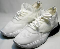 Белые летние кроссовки на белой подошве женские El Passo KY-5 White.