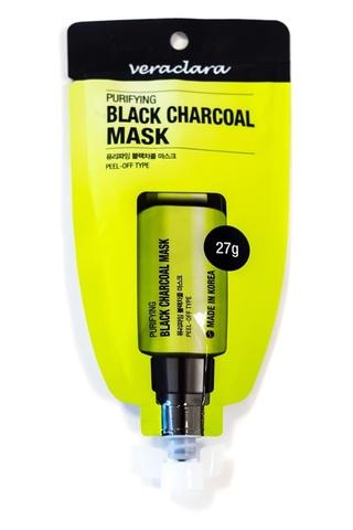 VeraClara Маска угольная очищающая Purifying Black Charcoal Mask 27 г.