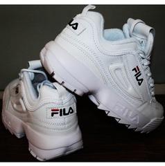 Кроссовки фила женские Fila Disruptor 2 all white RN-91175