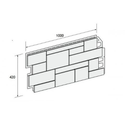 Фасадные панели (Цокольный Сайдинг) VOX Sandstone (Сандстоун) Beige (Бежевый)