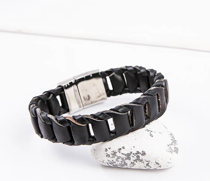 BL780-1 Оригинальный браслет со звеньями из натуральной кожи фото 06
