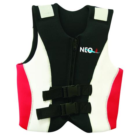 Жилет страховочный детский Neo Buoyancy 25-40 кг, бело-красно-черный
