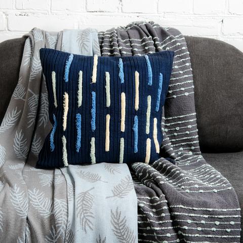 Подушка декоративная с бахромой и эффектом плиссе из коллекции Ethnic, 45х45 см