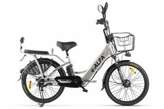 Электровелосипед Green City E-Alfa (2021) Серебристый