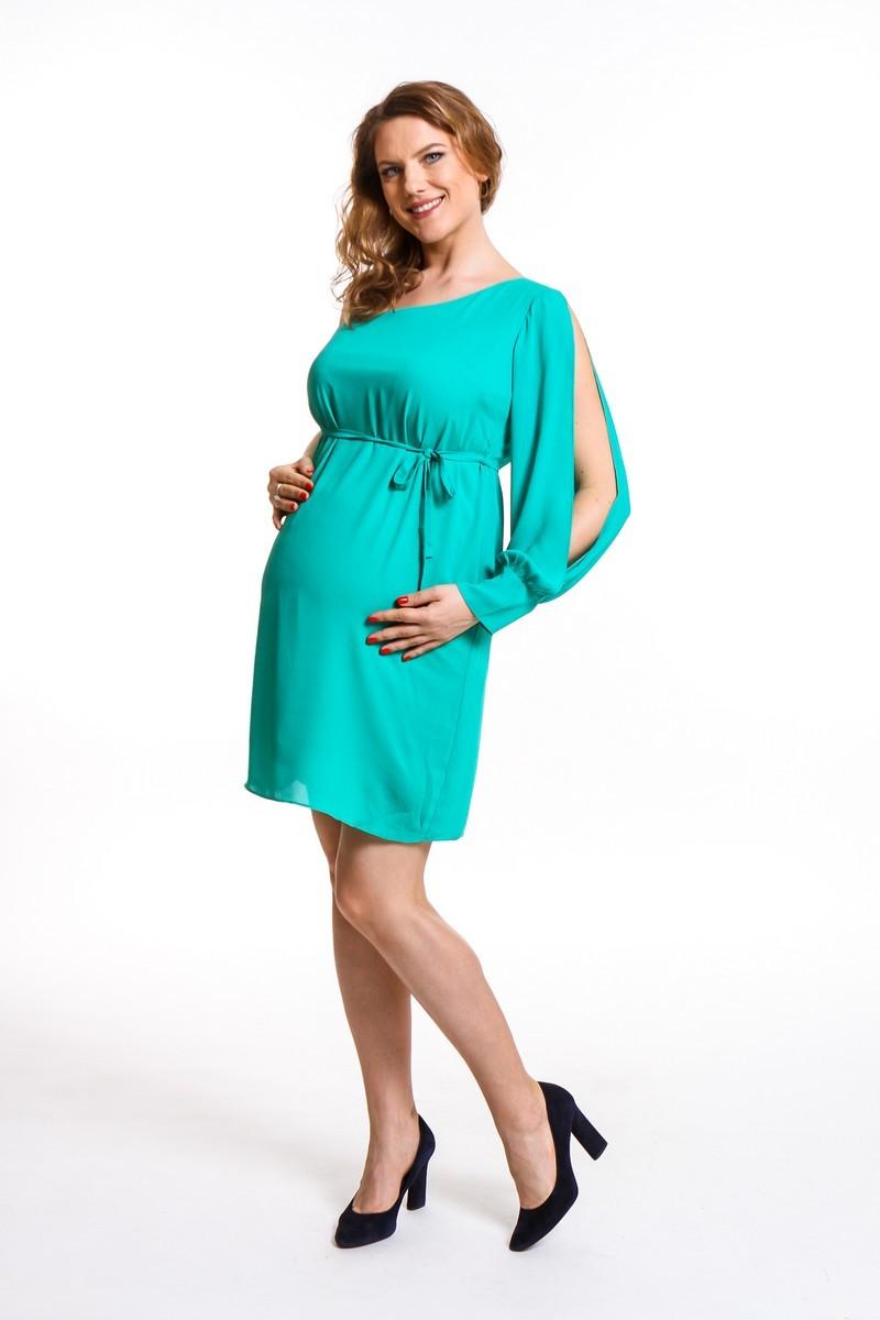 Платье для беременных 08668 зеленый