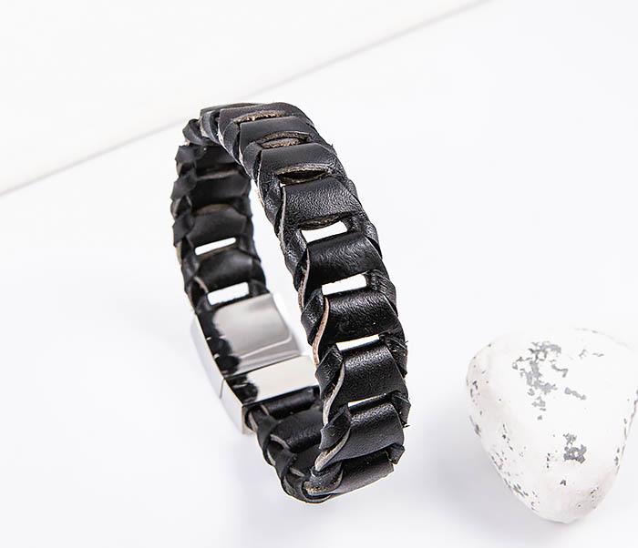BL780-1 Оригинальный браслет со звеньями из натуральной кожи фото 07