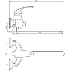 Смеситель KAISER Classic 16055 B для ванны схема