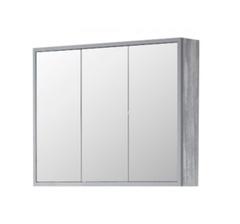 Зеркало-шкаф Corozo Айрон 90, серый