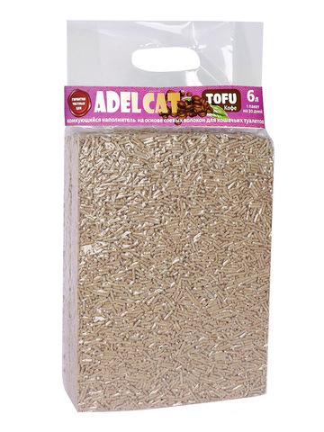 Комкующийся наполнитель Adel cat Tofu (Тофу) комкующийся Кофе 6л(2,5кг)