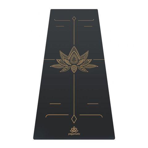 Каучуковый коврик для йоги Lotos Grey Gold 185*68*0,4 см