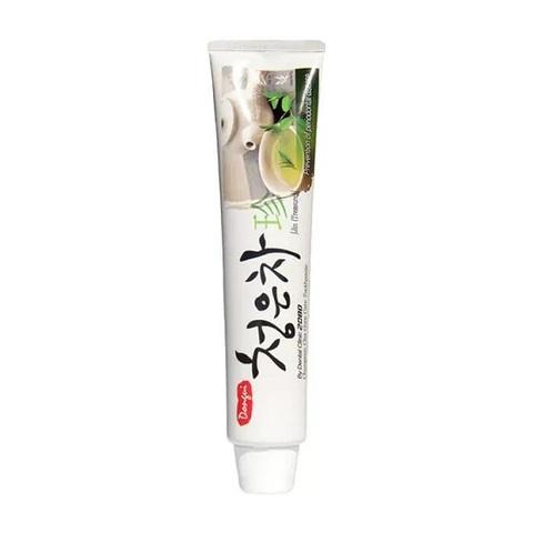 Зубная паста Aekyung Dental Clinic 2080 Chungeun Cha Gum Care Toothpaste со вкусом восточного чая и экстрактами лечебных трав 130 мл