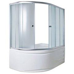 Шторка для ванны 1Marka DIANA 4604613103491 170х105х140 ТS каркас хром, стекло прозрачное