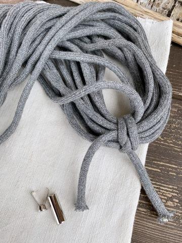 Шнур круглый 8мм, серый
