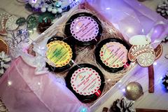 Медовый подарочный новогодний набор HoneyForYou в коробке с прозрачным верхом №2