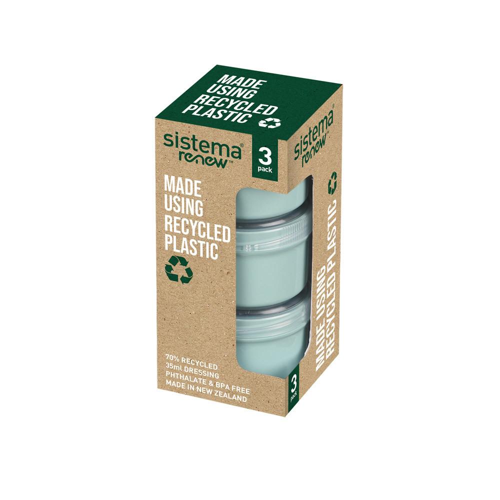 """Набор контейнеров для заправки Sistema """"Renew"""" 35мл, 3шт., цвет Светло-зеленый"""