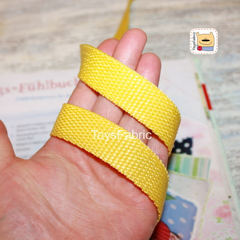 Ременная лента 20мм мягкая (желтая) ЛР20-Ж (1 ярд)