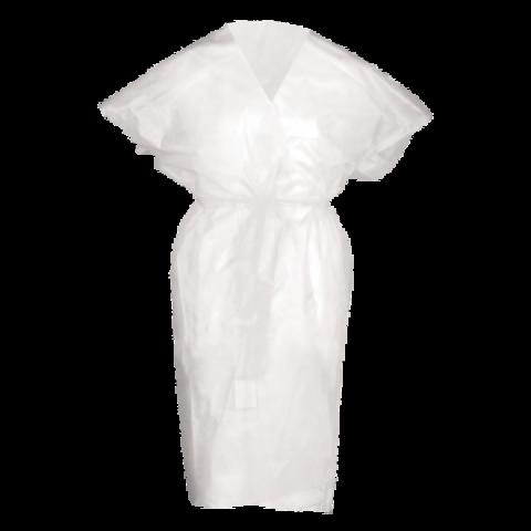 Халат кимоно SMS (люкс) без руквов белый 10 шт./уп.