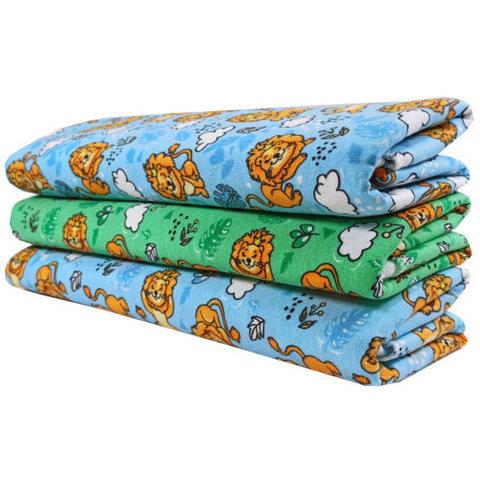 Папитто. Трикотажные пеленки из футера для мальчика 120х90 см, 3 шт.