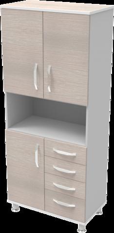 Шкаф медицинский общего назначения 2.02 тип 4 АйВуд Medical Office - фото