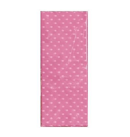 Бумага тишью Горох, 10 шт., 50x66 см, цвет: светло-розовый