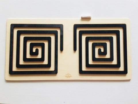Трафареты графомоторные Квадрат для одновременного рисования двумя руками Сенсорика