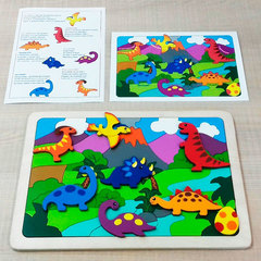 Мозаика-вкладыш Динозаврики