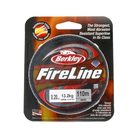 Плетеная леска Berkley Fireline 110M Темно-серая 0,20mm Smoke