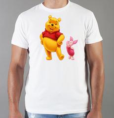 Футболка с принтом мультфильма Винни-Пух (Winnie the Pooh) белая 001