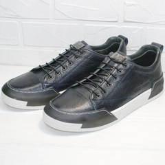 Мужские кроссовки кеды короткие осень весна Luciano Bellini C6401 TK Blue.