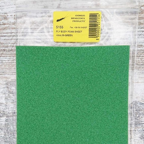 Материал для тела Giorgio Benecchi Fly Body Foam 4mm GREEN