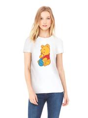Футболка с принтом мультфильма Винни-Пух (Winnie the Pooh) белая w005