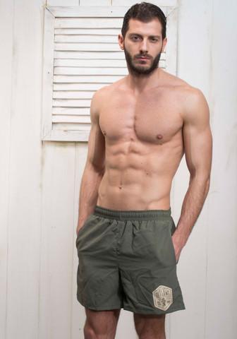 Мужские шорты для купания защитного цвета