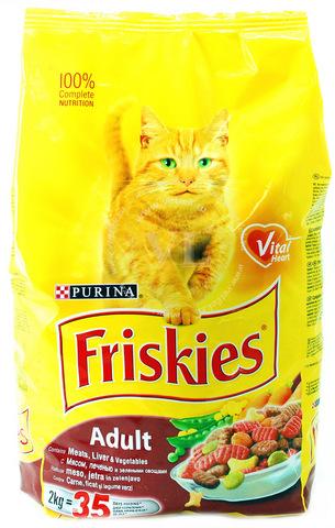 Friskies С мясом, печенью и овощами для кошек 2 кг