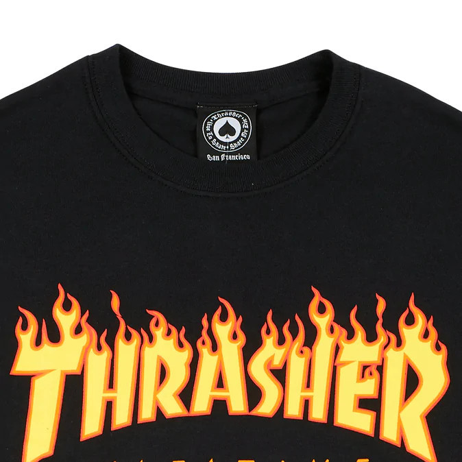 Футболка THRASHER Flame Black