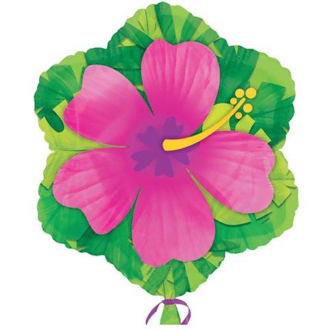 Фольгированный шар Гибискус розовый