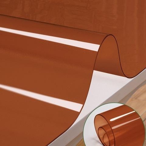 Мягкое стекло коричневое  ширина 90 см.