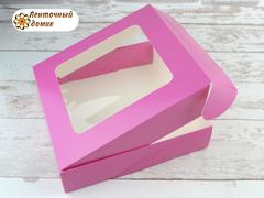 Коробка картонная малиновая № 5 (155*155*35 мм)