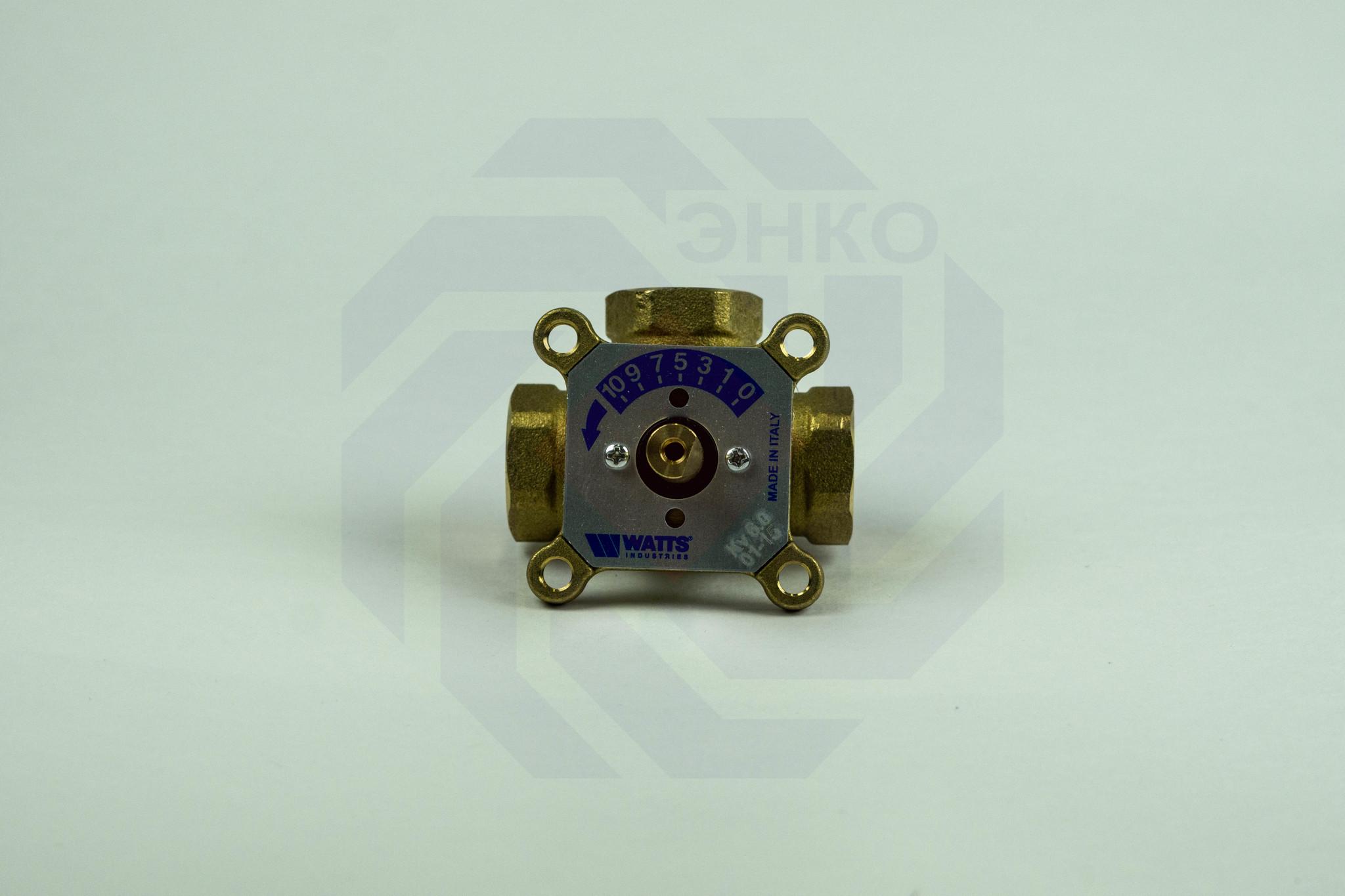 Клапан поворотный трехходовой с электроприводом WATTS V3GB ¾