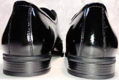Кожаные туфли мужские из натуральной кожи лаковые Ikoc 2118-6 Patent Black Leather
