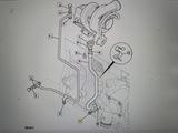 Болт крепления сливной трубки M8 x 20 JCB оригинал 1317/3305Z