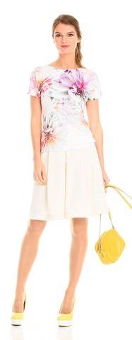Фото юбка в складку пышной формы с карманами и кружевной тесьмой - Юбка Б031а-115 (1)