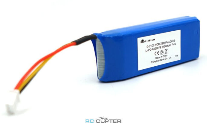 АКБ FrSky 2100mAh 7.4V LiPo battery для Taranis X9D