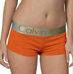 Женские трусы боксеры Calvin Klein Women Steel Boxer Orange