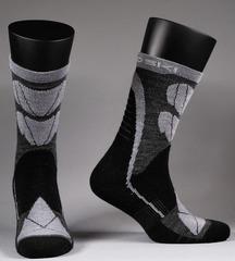 Термоноски с шерстью Nordski Wool Black-Grey